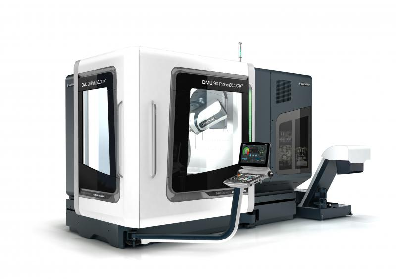 The DMU 90 P duoBLOCK® allows an economical entry into heavy-duty machining.