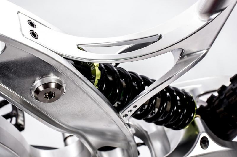 Ausschnitt des Mountainbike-Rahmens