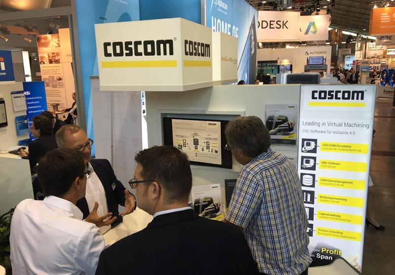 COSCOM feiert im AMB IndustryArena Innovation Park mit der neuen zentralen Fertigungsdatendank mit Tool Cooperation Interface (TCI) eine Premiere im Bereich standardisierte Werkzeugdatenkommunikation.
