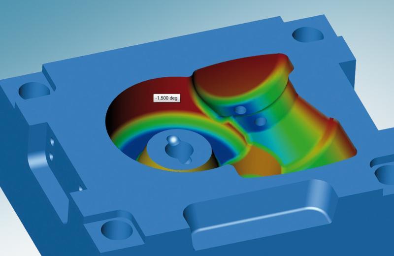 hyperCAD®-S bietet neue Funktionen für die Entformungsanalyse
