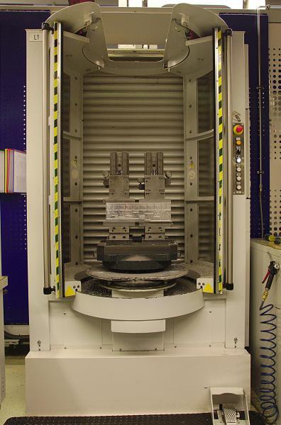 Die Be- und Entladestation eines FPC-750. Die Paletten verfügen über eine Tragkraft von 750 kg.