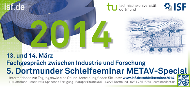 Dialogue between the research community and the industrial sector: the Grinding Seminar of the Institute of Machining Technology (ISF) at the METAV 2014 offers plenty of food for thought. The bandwidth of topics ranges from cooling lubricant feed in the context of energy-efficiency and process dependability to super-finishing with piezo support. Photo, graphics: ISF