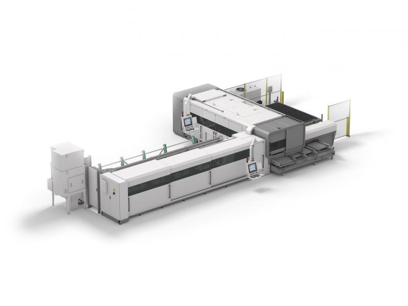 The LC5 is a combined sheet and tube laser cutting system. Compactness, ergonomics, modularity and versatility: these are the keywords for understanding the potentials of a system which ensures non-stop efficient production for cutting sheets and tubes.