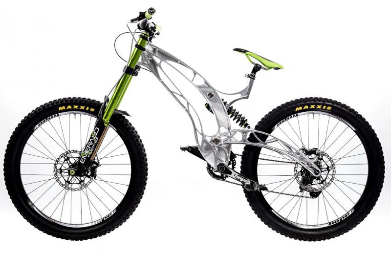 Milled from solid stock with hyperMILL®: Mountain bike from North Bucks Machining.