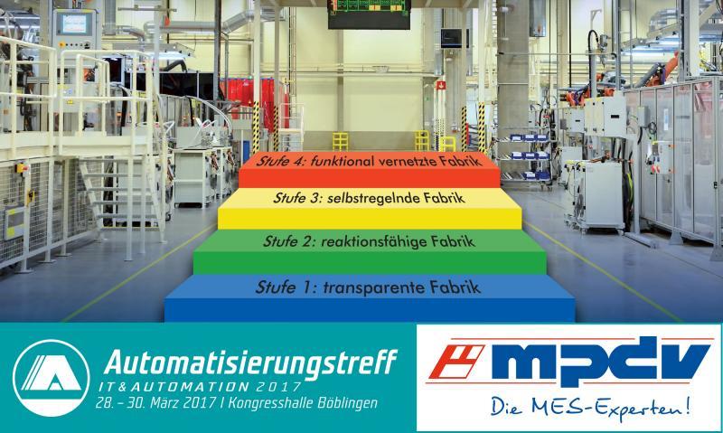 Vortrag der MES-Experten beim Automatisierungstreff 2017 am 29. März 2017 in Böblingen
