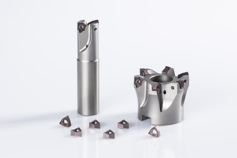 Das Frässystem DA62 von Horn ist als Aufsteckfräser oder für Weldonaufnahmen sowie als Einschraubköpfe erhältlich.