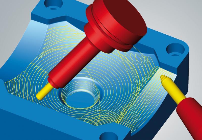 hyperMILL® MAXX Machining: 5-Achs-Tangentialbearbeitung für beliebig krümmungsstetige Flächen