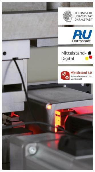 """Im Rahmen des Förderschwerpunktprogramms """"Mittelstand-Digital – Strategien zur digitalen Transformation der Unternehmensprozesse"""" vom Bundesministerium für Wirtschaft und Energie (BMWi), ist das Mittelstand 4.0 – Kompetenzzentrum als Teil der Förderinitiative """"Mittelstand 4.0 – Digitale Produktions- und Arbeitsprozesse"""" in Darmstadt entstanden."""