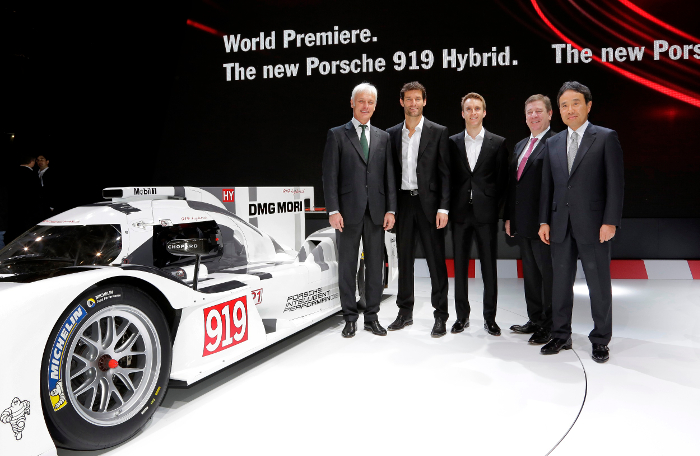 Porsche presents DMG MORI as exclusive premium partner in Geneva