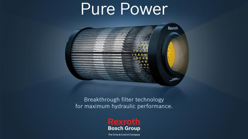 Bosch Rexroth has introduced a new range of hydraulic filter elements