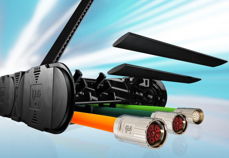 Sistema de separación único de igus® mejora el aprovechamiento de la cadena porta-cables e-chain®