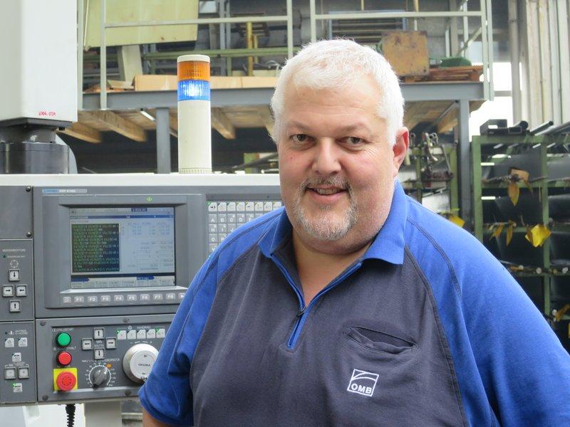 Markus Wick, Inhaber der OMB Maschinenfabrik AG, Bütschwil
