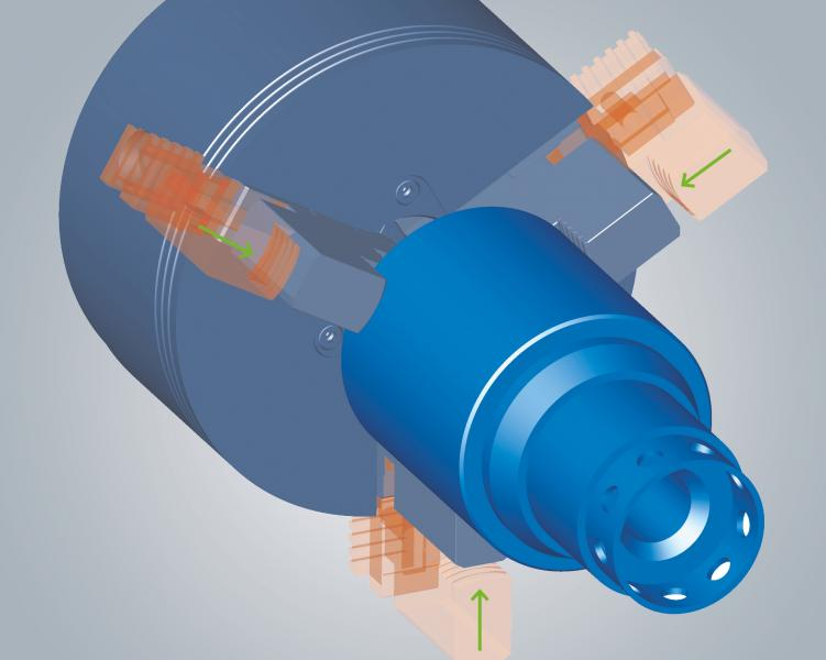 An innovative new positioning function for convenient clamping alignment within hyperCAD®-S.