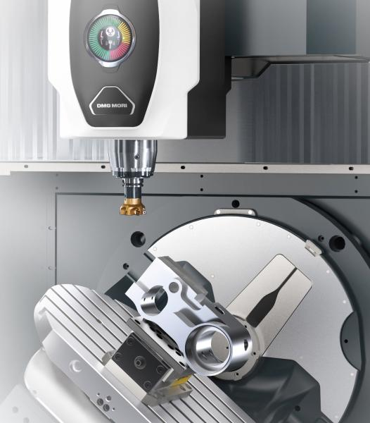 With its swivel-rotary table with -35° / +110° the DMU 50 3. Generation offers now an up to 28 % larger swivel range.