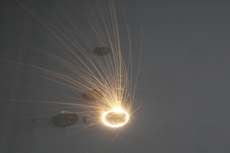 Laser melting circular parts