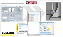 """""""COSCOM connected"""" wurde um ESPRIT CAD/CAM Software erweitert. Das COSCOM ToolManagement-System ToolDIRECTOR VM liefert Werkzeugdaten für ESPRIT CAD/CAM."""