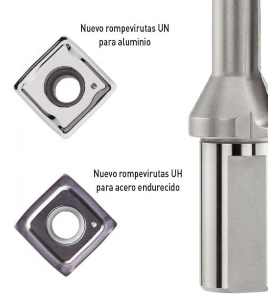 BROCA MVX: Nueva calidad y nuevos rompevirutas para aceros endurecidos y aluminio