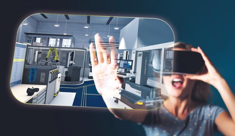 """ZOLLER zeigt die weltweit erste VR-Guided Tour """"from Job to Part"""" in faszinierendem stereoskopischem 3D. """"Connecten"""" auch Sie sich mit der Fertigung der Zukunft und erleben Sie eine packende virtuelle 3D-Entdeckungsreise durch die Fertigungshallen!"""