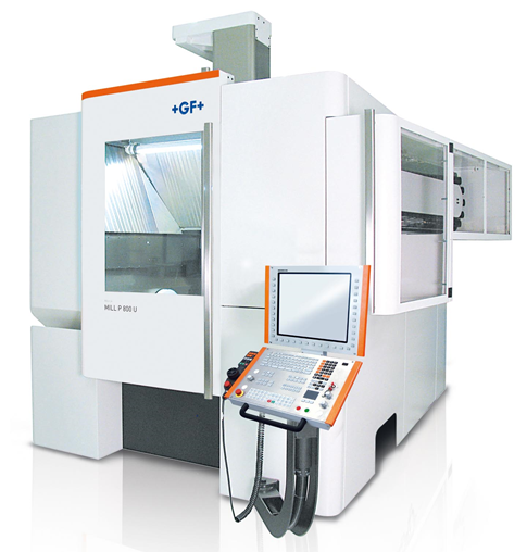GF Machining Solutions' Mikron MILL P 800 U range of five-axis high-performance Milling solutions guarantees high precision in heavy-duty production across a wide range of industrial segments, including mold and die, general mechanics, and aerospace and power generation.