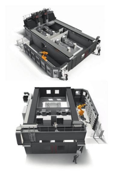 Nebenzeiten im Griff: Ein Roboter übernimmt das Handling der 320 Werkzeuge.