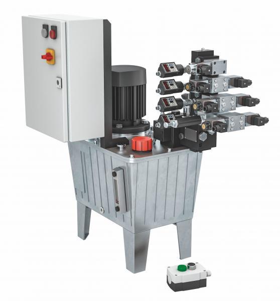 Neu bei dem modular aufgebauten Pumpenaggregat von ROEMHELD ist eine intelligente Zustandskontrolle, die Wartungsarbeiten planbar macht und zu einer kontinuierlichen Anlagenverfügbarkeit verhilft