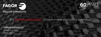 Fagor Arrasate participa con grandes expectativas en la Feria Europea de Composites de Stuttgart