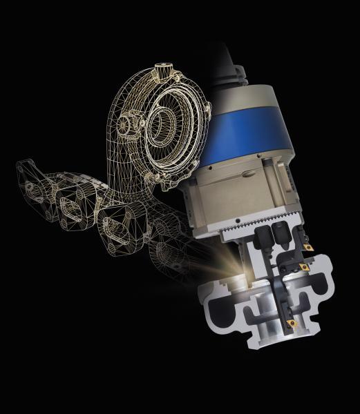 Durch das Interpolationsdrehen mit einem speziellen KomTronic U-Achs-Werkzeug reduziert sich die Gesamtbearbeitungszeit für diesen Turbolader um 25 Prozent.