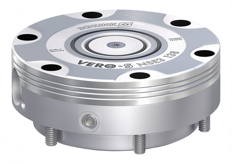 The VERO-S NSE3 138 quick-change pallet module disposes of high pull-down forces and a high rigidity. On option, kit can be equipped with a cone seal that prevents chips or dirt from lodging in the changing interface. The VERO-S NSE-T3 138 version is additionally available for the use on tombstones.