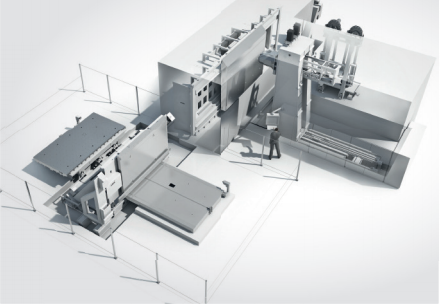 Record breaking: ECOFORCE Ti 9 and Ti 13 can machine titanium structural components of up to 8,000 mm in length with extremely high cutting rates of 750 cm³/min (45 in3 /min) multiple times that of CNC centres, the otherwise standard solution.