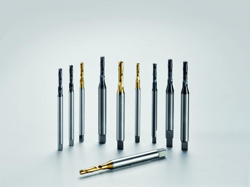 Different coatings and sizes of the Punch Tap tools