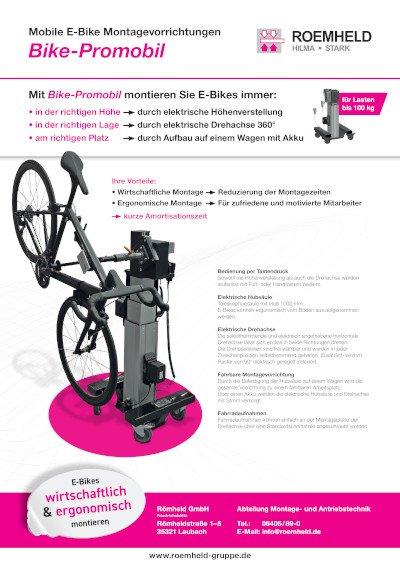 Bike-Promobil: Mobile E-Bike Montagevorrichtung