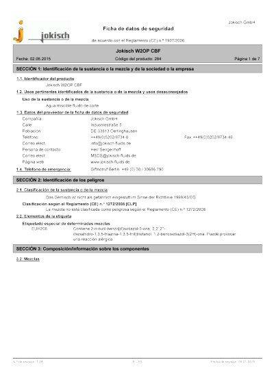 Jokisch W2 OP CBF: Ficha de datos de seguridad