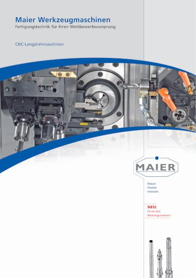 Technikbroschüre Maier Werkzeugmaschinen