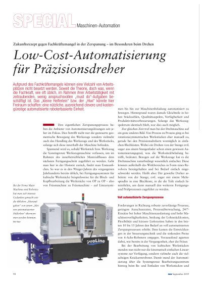 Low-Cost-Automatisierung für Präzisionsdreher
