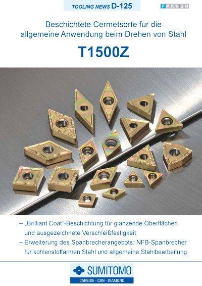 Tooling News D-125: T1500Z Beschichtete Cermetsorte zum Drehen von Stahl