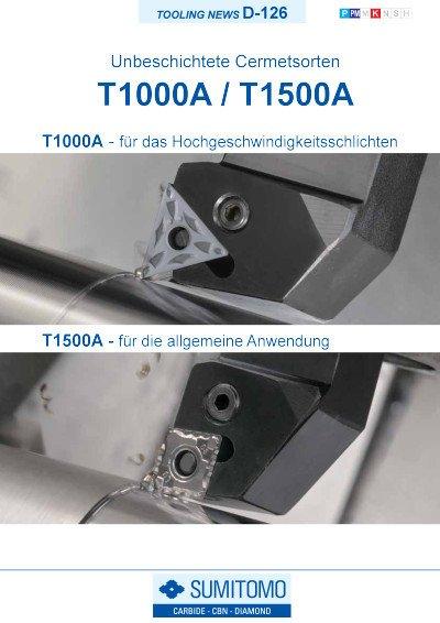 Tooling News D-126: T1000A / T1500A Unbeschichtete Cermetsorten