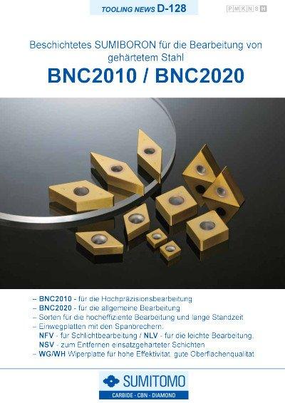 Tooling News D-128: BNC2010 / BNC2020 Beschichtete SUMIBORON Sorte für die Drehbearbeitung von gehärtetem Stahl