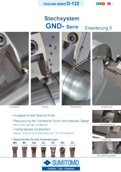 Tooling News D-132: GND Serie Stechsystem – Erweiterung II