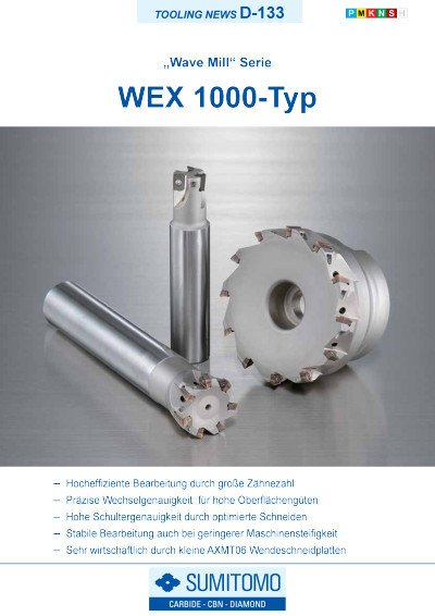 Tooling News D-133: WEX1000 Typ Wave Mill Serie
