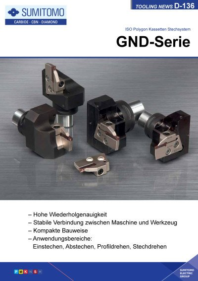 Tooling News D-136: GND-Serie ISO Polygon Kassetten Stechsystem
