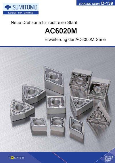 Tooling News D-139: AC6020M Neue Drehsorte für rostfreien Stahl