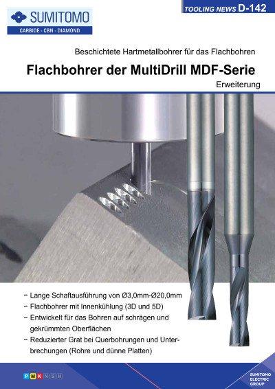 Tooling News D-142: Erweiterung der MultiDrill MDF-Serie - Beschichtete Flachbohrer für das Plansenken