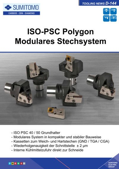 Tooling News D-144: ISO-PSC Polygon Modulares Stechsystem