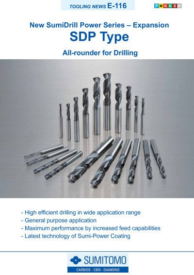 Tooling News E-116: SDP SumiDrill Power Series