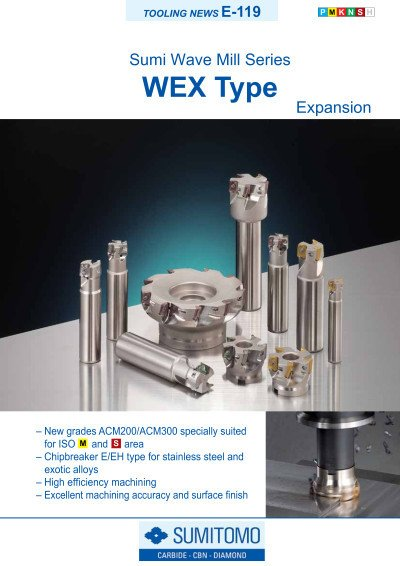 Tooling News E-119: WEX Sumi Wave Mill Series