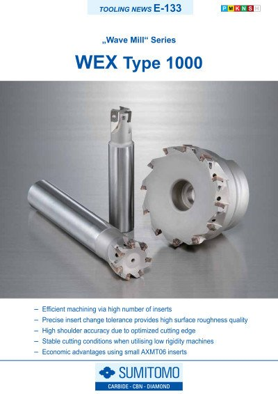 Tooling News E-133: WEX Type 1000 Wave Mill Series