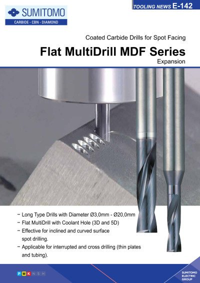 Tooling News E-142: Flat MultiDrill MDF Series