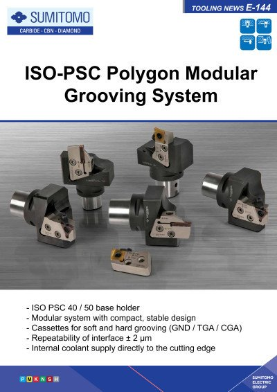 Tooling News E-144: ISO-PSC Polygon Modular Grooving System