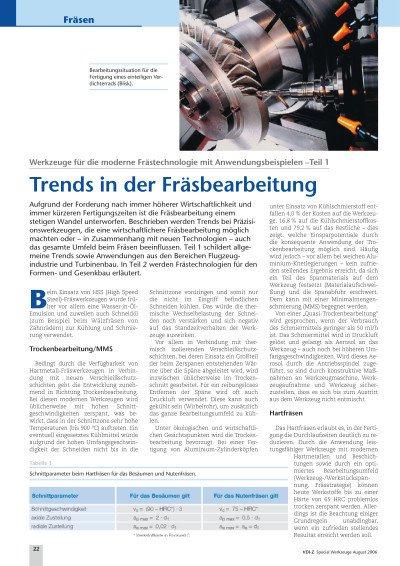 Trends in der Fräsbearbeitung - Teil 1