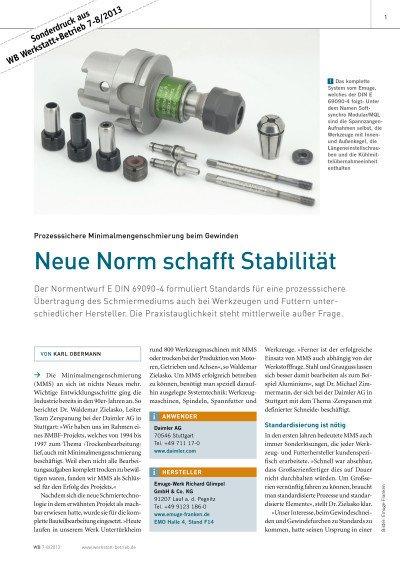 Neue Norm schafft Stabilität